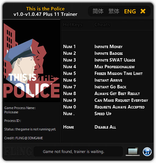 This Is the Police: Трейнер/Trainer (+11) [1.0 - 1.0.47] {FLiNG}